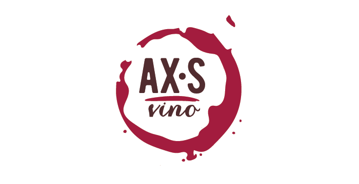 AX•S Vino Logo by Barefaced Design