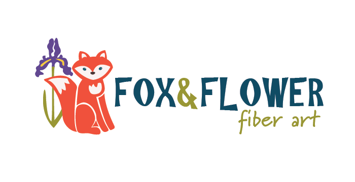 Fox and Flower logo design by Barefaced Design