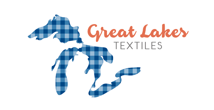 Great Lakes Textiles logo design by Barefaced Design