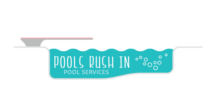 Pools Rush In logo design by Barefaced Design