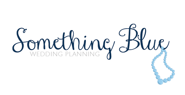 Something Blue Wedding Planning logo design by Barefaced Design