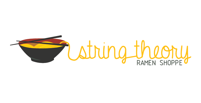 String Theory Ramen Shoppe logo design by Barefaced Design