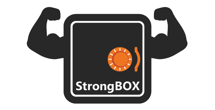 StrongBox logo design by Barefaced Design