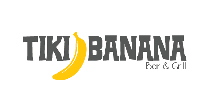 Tiki Banana Bar & Grill logo design by Barefaced Design