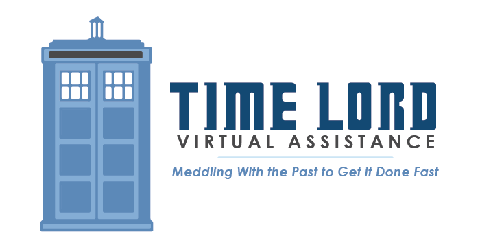 Time Lord Virtual Assistance logo by Barefaced Design