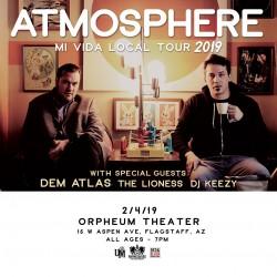 Atmosphere with Dem Atlas, The Lioness, DJ Keezy